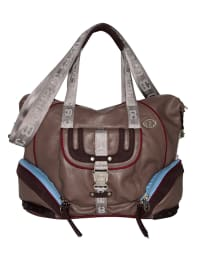 "Poodlebag Henkeltasche ""Sporty - Linz"" in Taupe - (B)35 x (H)30 x (T)"