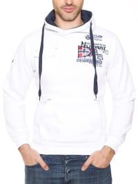"Geographical Norway Kapuzenpullover ""Fantome"" in Weiß"