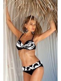Meriell Bikini in Schwarz/ Weiß