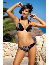 Meriell Bikini in Schwarz/ Taupe
