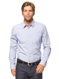 Tom Tailor Hemd in Blau/ Weiß