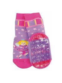 """Ewers Anti-Rutsch-Socken """"Prinzessin Lillifee"""" in Pink/ Flieder"""