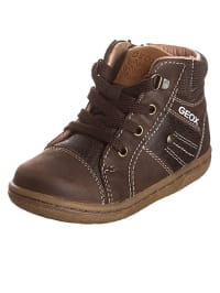 "Geox Leder-Sneakers ""Flick B"" in Hellbraun"