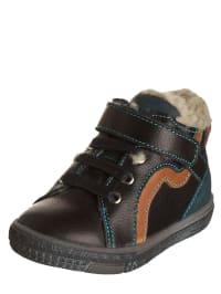"""Minibel Leder-Sneakers """"Jemylim"""" in Schwarz/ Petrol"""