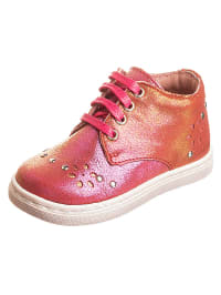 "Aster Leder-Halbschuhe ""Reali"" in Pink/ Orange"
