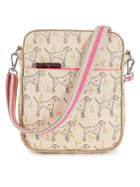 "Pink Lining Wickeltasche ""Messenger Bag"" in Creme/ Rosa - (B)21 x (H)25 x (T)8 cm"