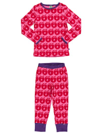 Småfolk Pyjama in Pink/ Rot