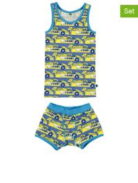 Småfolk 2tlg. Unterwäsche-Set in Blau/ Gelb