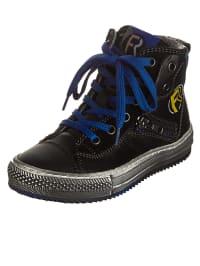 Romagnoli Leder-Sneakers in Schwarz
