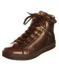 Romagnoli Leder-Sneakers in Braun