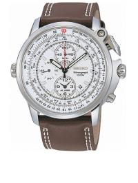 Seiko Chronograph in Braun/ Silber/ Weiß