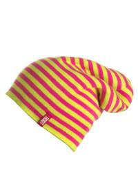 Ticket2heaven Beanie in Gelb/ Pink