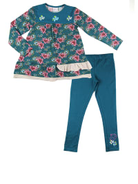 "What´s up Kids 2tlg. Outfit ""Maseked Balls"" in Petrol/ Pink"