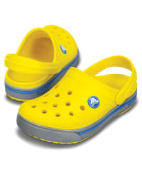 "Crocs Clogs ""Crocband II.5""  in Gelb/ Grau/ Blau"
