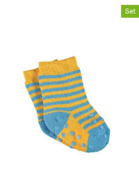 Sterntaler 2er-Set: Anti-Rutsch-Socken in Gelb/ Hellblau