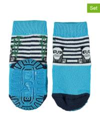 Sterntaler 2er-Set: Anti-Rutsch-Socken in Hellblau