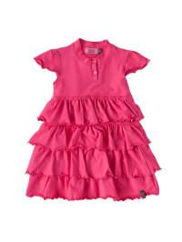 ZieZoo Schickes Sommerkleid mit Rüschen in pink