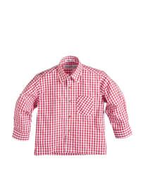 Isartrachten Trachtenhemd in rot/ weiß