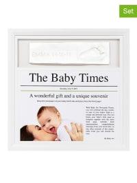 Baby Art 4tlg. Abdruck-Set mit Bilderrahmen in Weiß